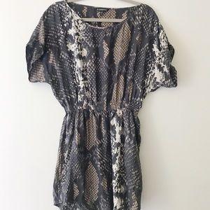 Express Snakeskin Dress